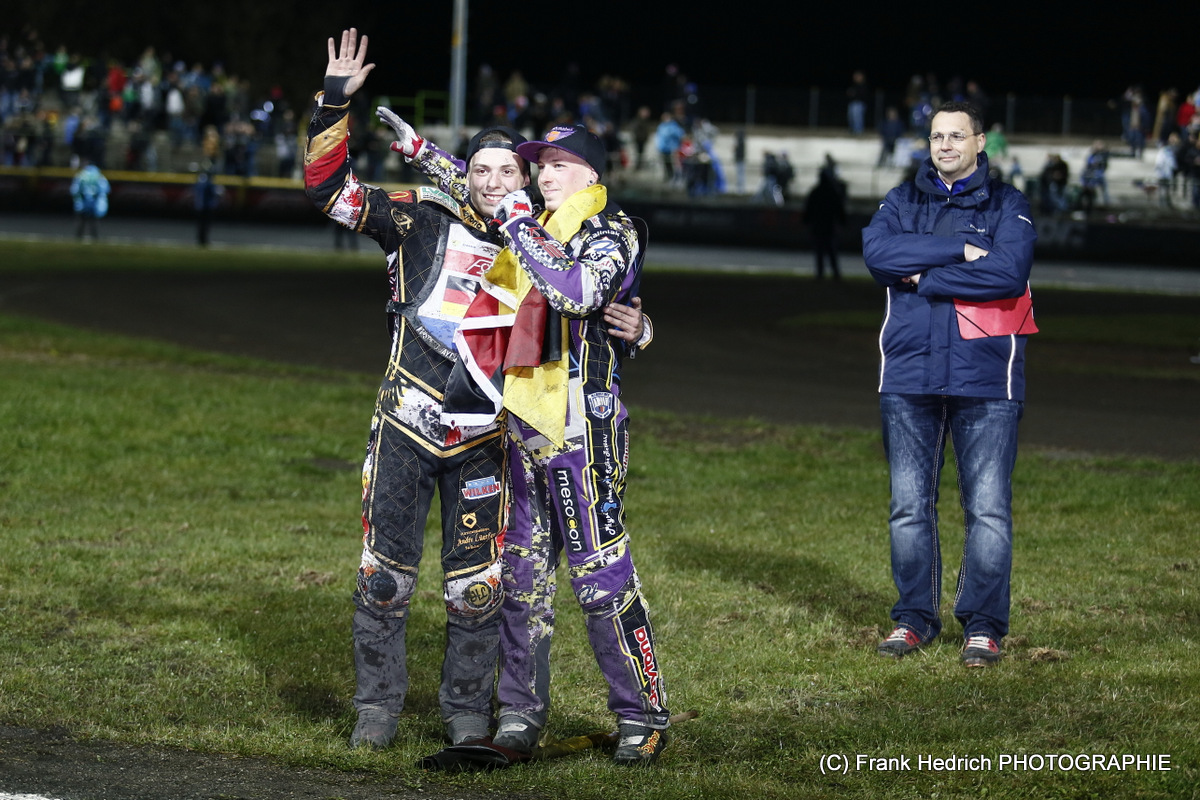 (c) Frank Hedrich - Emotionen beim Speedway - Kai Huckenbeck - Tobias Busch
